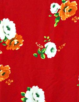 ♬赤に白/オレンジ バラ柄